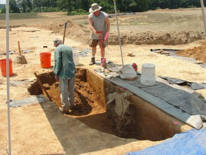 Excavating the southern half of the probable well, June 29th 2012