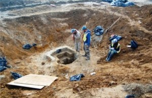 Well excavation at the Noxon Tenancy Site